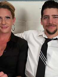 Morgan Bailey is 100ft of sex. She's tall, lean, & fierce with her cock. She takes a new guy through his anal paces & fucks on the office