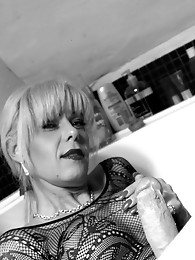 Something very different with a black and white photoset where I am wearing a lace bodystocking and spike heels which all goes to make for a very dram