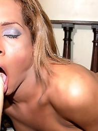 Horny Tranny Adrianna Giving Head For A Dildo
