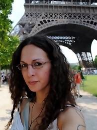 Seductive transsexual on a trip in Paris