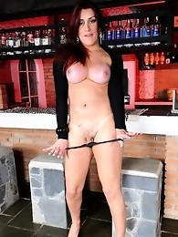 Seductive Joy Spears stripping and posing