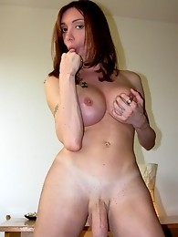 Mariana Cordoba shows her massive cock